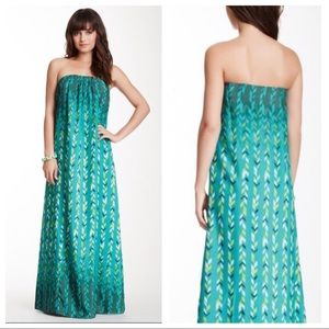 LOVERS + FRIENDS Palm Springs Strapless Maxi Dress